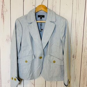 Talbots Linen Blazer Jacket W/ Pockets Size 16